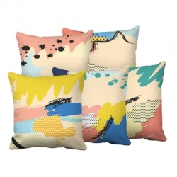 Digital Printed Multicolor Cushions Cover 16 x 16 inch Pack of 5