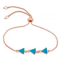 Golden Plated Crystal Stones Designer Triangular Bracelet