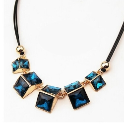 Geometric Space Triangle Vintga Necklace