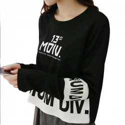 Korean Short Black White T Shirt