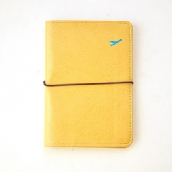 Yellow Colour Leather Passport Cover Wallet