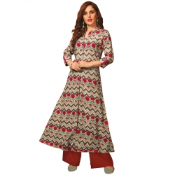 Littledesire Flower Printed A-Line Long Kurta