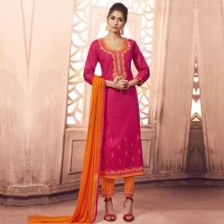Littledesire Embroidery Work Unstitched Salwar Suit with Dupatta