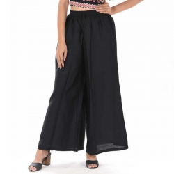 Littledesire Black Straight Palazzo With Side Pocket