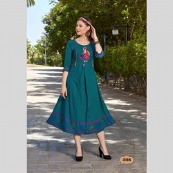 Littledesire Latest Stylish Embroidered Stitched Kurta