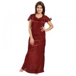 Littledesire Solid Pattern With Lace Nightwear
