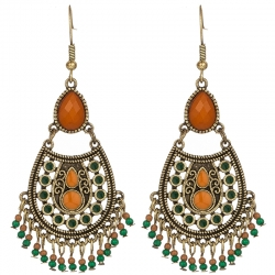 Multiple Vintage Acrylic Beads Dangle Drop Earring