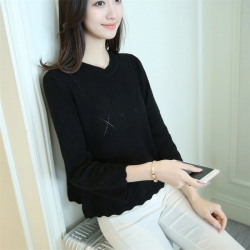Littledesire Hollow-out Pullover Knitted Sweater Top