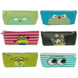 Birthday Party Return Gifts Printed Cartoon Pouch Bag Random Color - 6 Pcs Lot