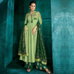 Littledesire Stylish Embroidered Long Kurta With Palazzos & Dupatta