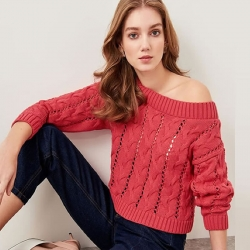 Littledesire Long Sleeve Knitwear Sweater