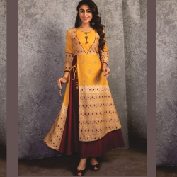 Littledesire Double Layer Designer Kurta With Side Dori