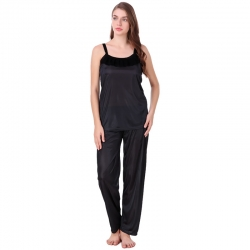 Littledesire Plain Top and Pajama Set for Women