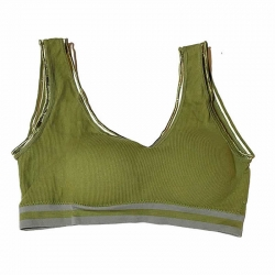 Seamless Solid Padded Fashionable Sports Bra