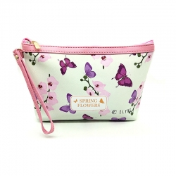 Floral Print Cosmetics Makeup Pouch