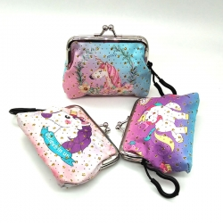 Unicorn Handy Clutch Mini Sequins Glitter Wallet Pack Of (3 Pcs)