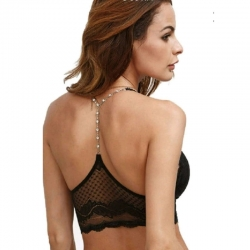 Heavy Soft Net Stone Back Design Bralette