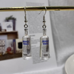 Classic Vodka Bottle Creative Earrings