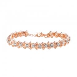 Dual Side Spikes Ethereal Solitaire Crystal Adjustable Bracelet