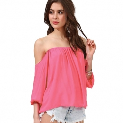 Chiffon Off Shoulder Tops