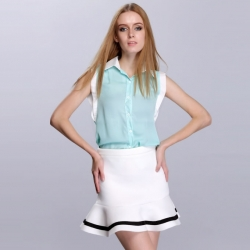 Sleeveless Chiffon Shirt Top