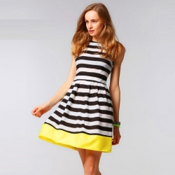Striped Sexy Evening Party Mini Dress