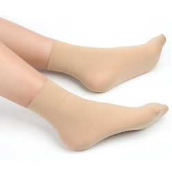 Littledesire sexy skin tight thin crystal short silk socks for women - 4 Pairs