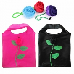 2 Pcs Reusable Foldable Rose Grocery Random Color Shopping Tote Bag