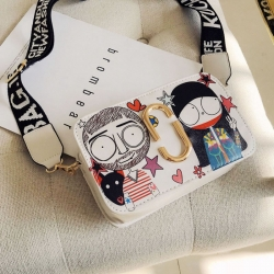 Littledesire Cute Fun Cartoon Print Square Messenger Bags