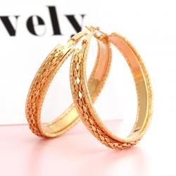Littledesire Big Circle Hoop Golden Earrings