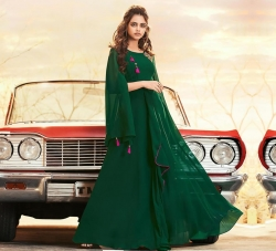 Littledesire Embroidered Work Long Stylish sleeves Gown