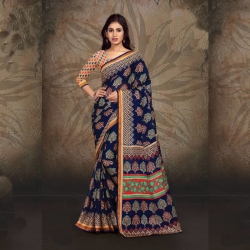Littledesire Designer Printed Silk Saree