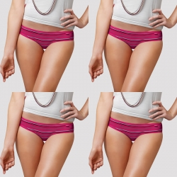 Dixcy Candy Stripes Low Waist Panty Pack of 4
