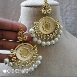 Stylish Jewelry White Pearl Earrings