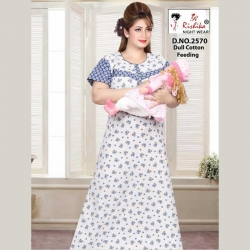 Printed Feeding Women's Cotton Nightwear