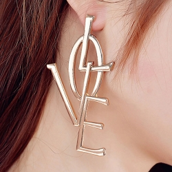 Fashion Jewellery Love Stylish Golden Earring
