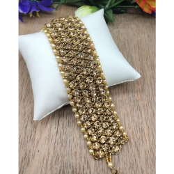 Gold Plated Polki Bracelet