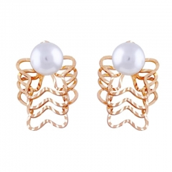 Simple Big Pearl Beads Stud Earring