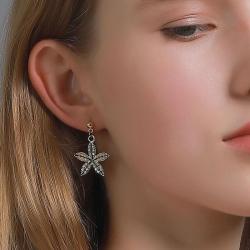 Five-Leaf Clover Temperament Style Earrings