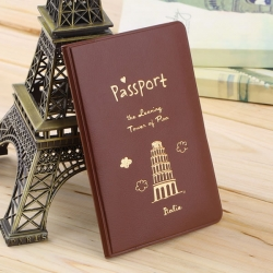 Travel Utility Simple Passport or ID Card Cover Holder ( coffee passport )