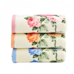 3 pcs Soft Cotton Face Flower Towel Handkerchief