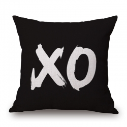 XO Jute Cushion Covers