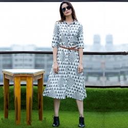 Littledesire Designer Printed Dress Style Rayon Kurta