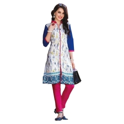 Littledesire Women Daily Wear Printed Front Slit Cotton Kurta