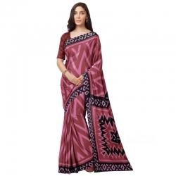 Littledesire Tussar Silk Digitally Printed Saree With Blouse