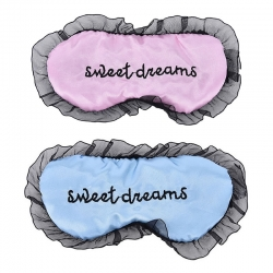Sweet Dreams Baby Pink & Blue Silk Sleep Eye Mask (Pack of 2)