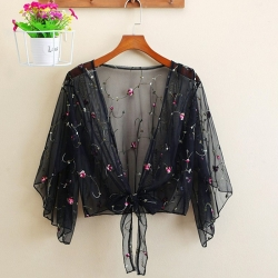Littledesire Loose Lace Floral  Summer Thin Shrug