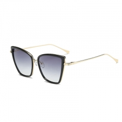 Littledesire Designer Vintage Metal Cateye Sunglasses