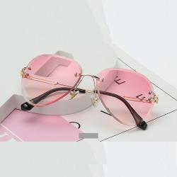 Littledesire Rimless Gradient Shades Cutting Lens Sunglasses