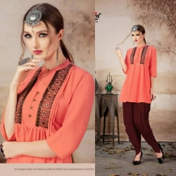 Littledesire New Latest Design Embroidered Work Short Kurti Top